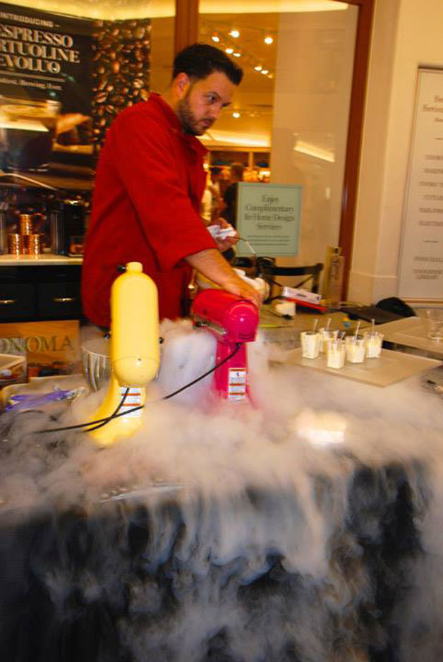 Billowing nitrogen dry ice at Potions in Motion