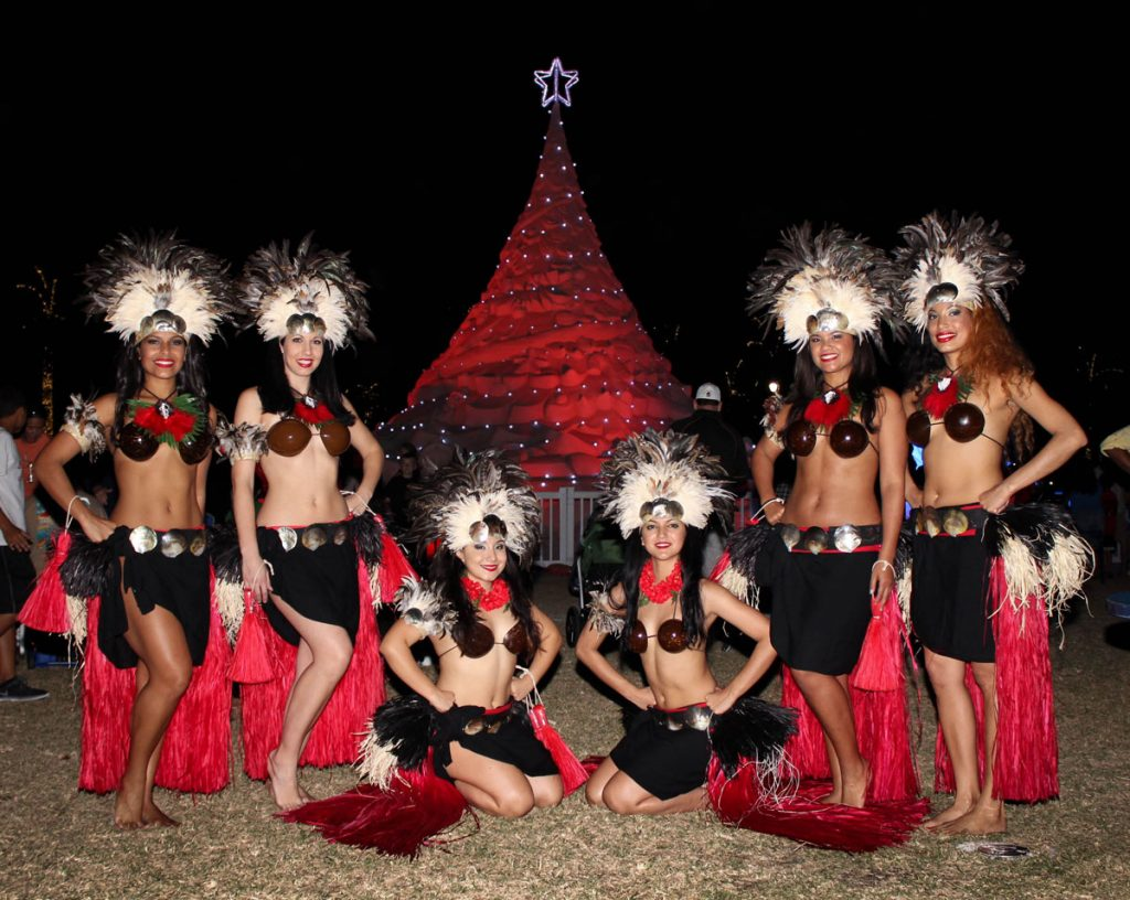 Aloha Islanders Show during the Holiday Season in West Palm Beach