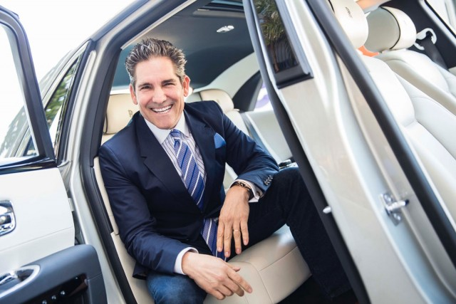 Grant Cardone Signing Book at the Ruth Chris Steak House in CityPlace