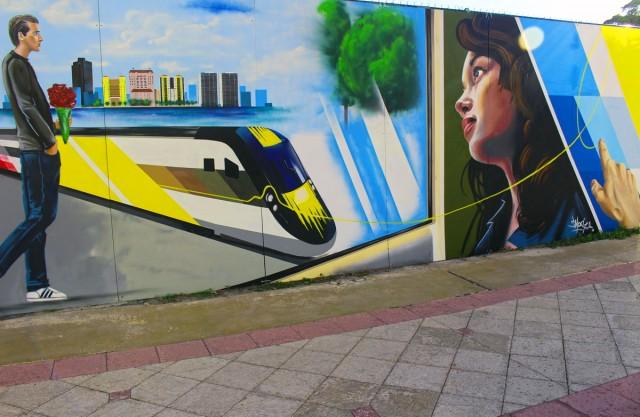 Brightline Train Station Mural Unveiled
