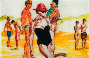 Eric Fischl painting at Art Palm Beach