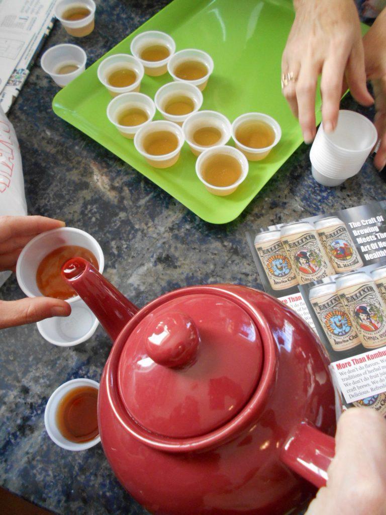 Kombucha tea at Olivias
