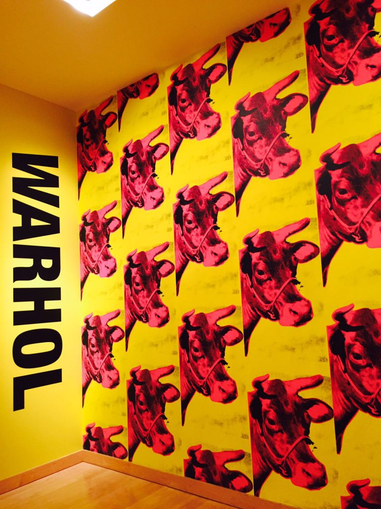 Andy Warhol Pink cows at Boca Museum