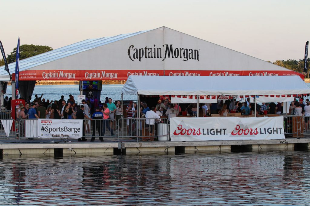 Captain Morgan Floating Barges at SunFest