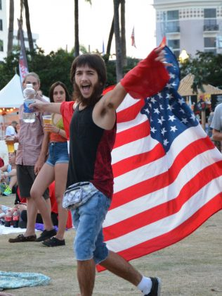 Man-with-American-Flag-SunFest-WPB-Fashion-Trends