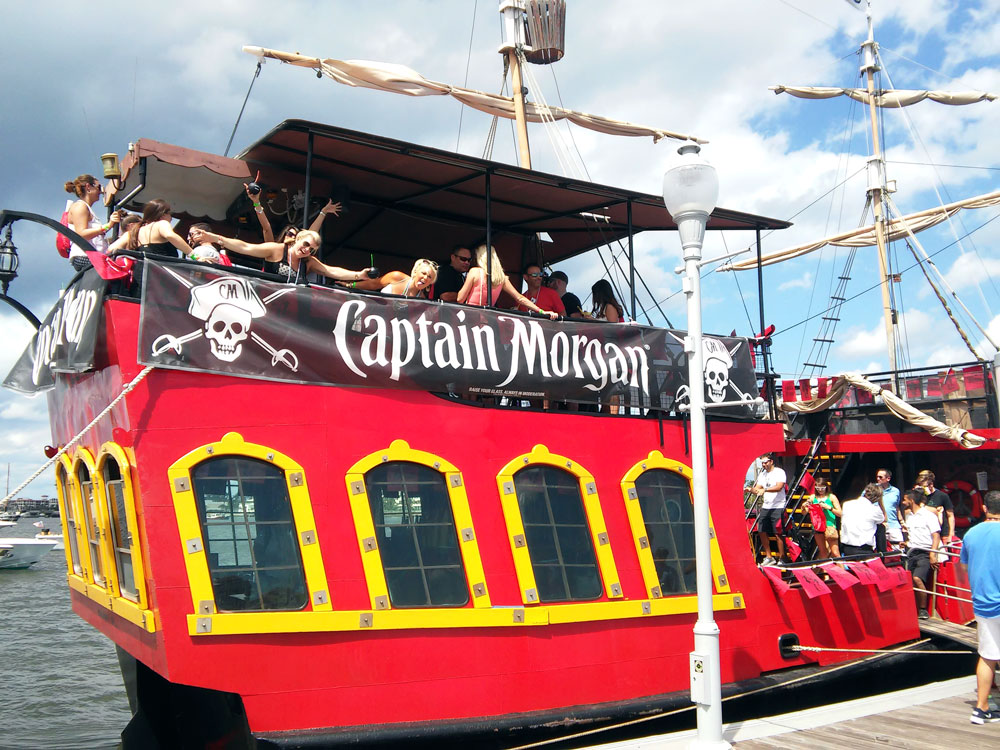 Captain Morgan Pirate Ship at SunFest 2015