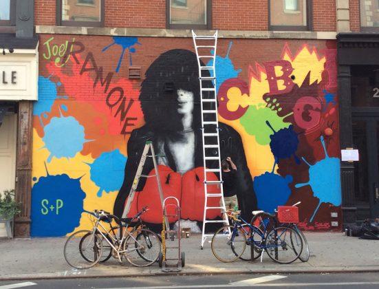 Joey Ramone Mural NYC