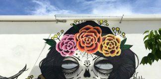 Amanda Valdes mural at WIne Scene in West Palm Beach