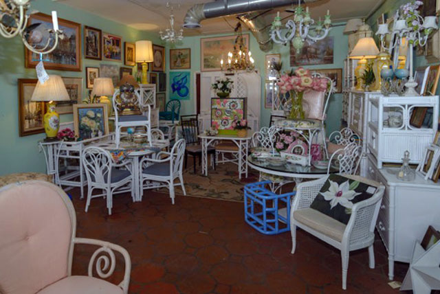 Kitschy decor at Something Lively Antiques