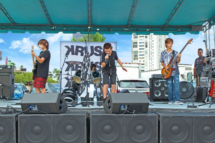 Krush Band Playing Live at Feast of the Sea in West Palm Beach