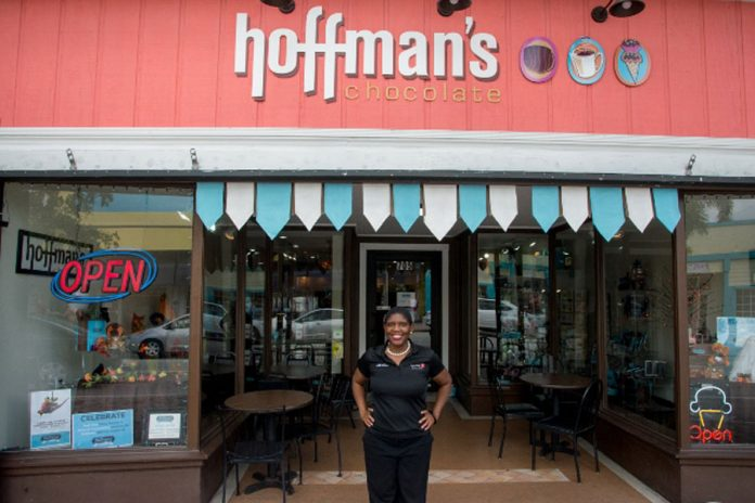 Lori Durante at Hoffmsn's Chocolates in Lake Worth