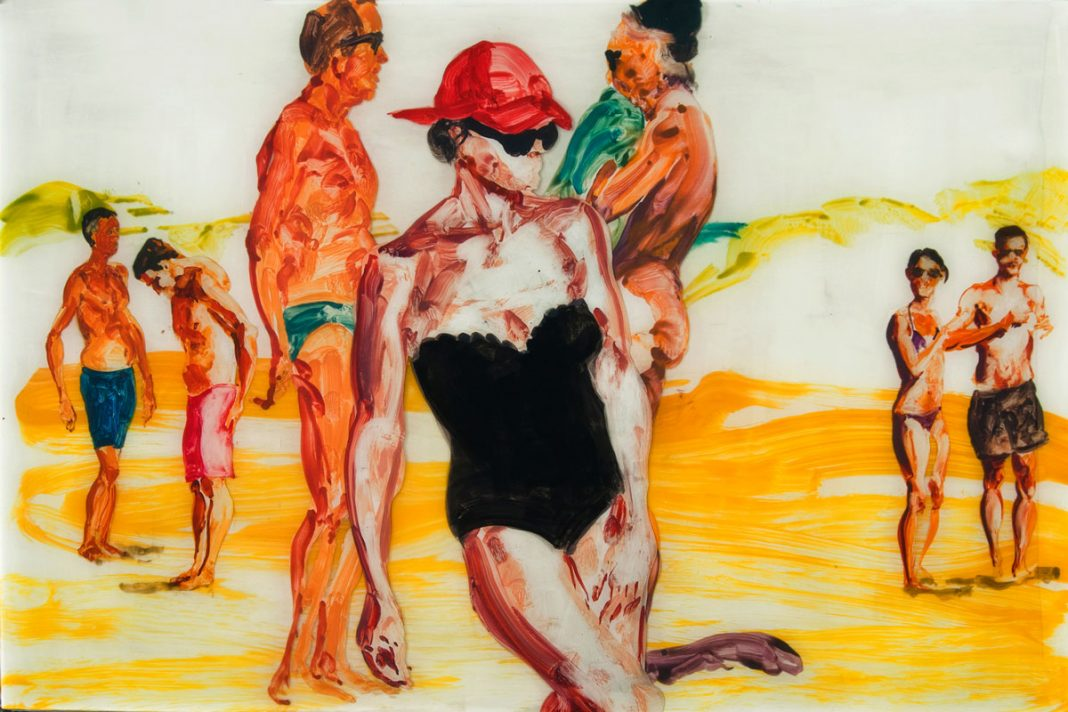 Eric Fischl painting at Art Palm Beach