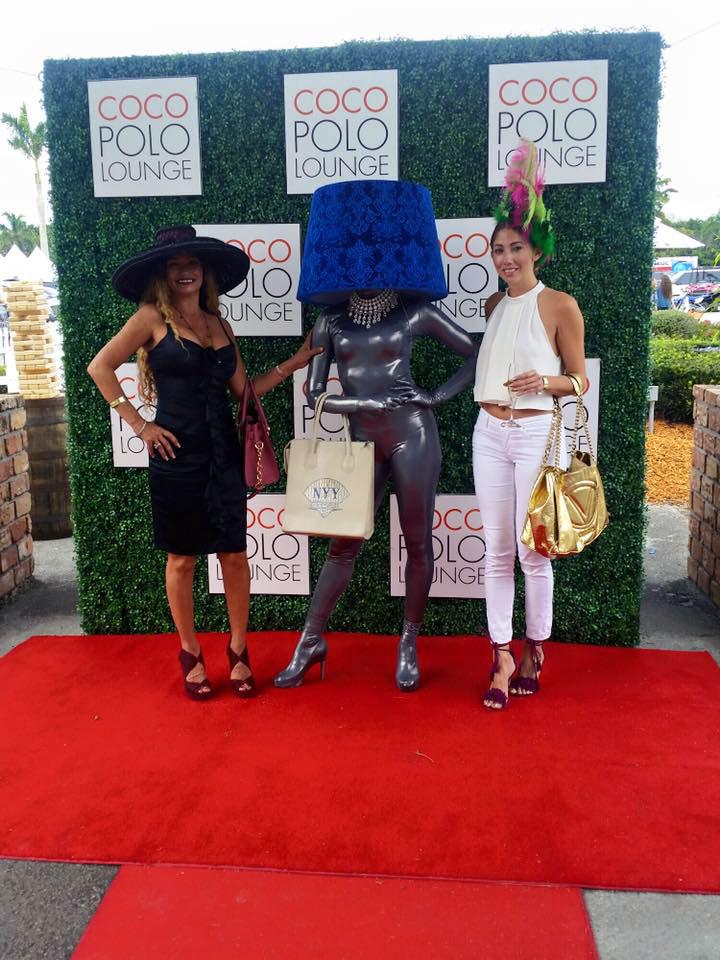 Lampshade models at Polo Club