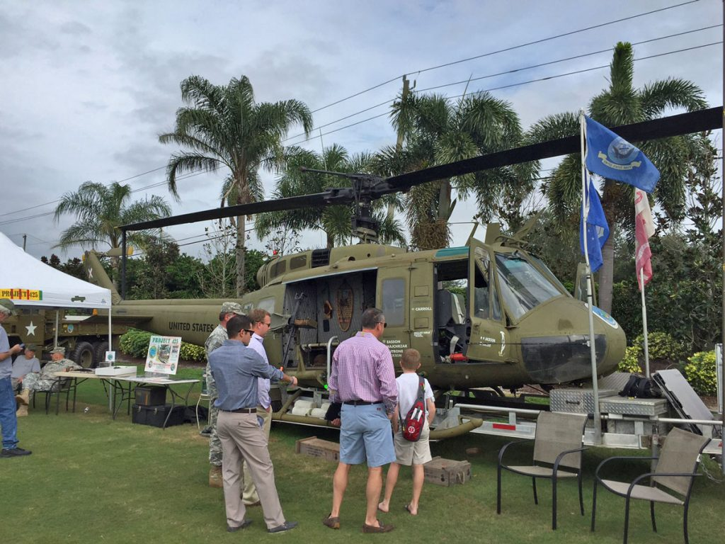 Military vehicle at Polo opening day