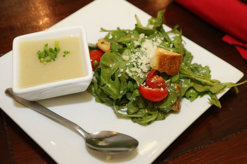 Soup and salad at the Dispensary