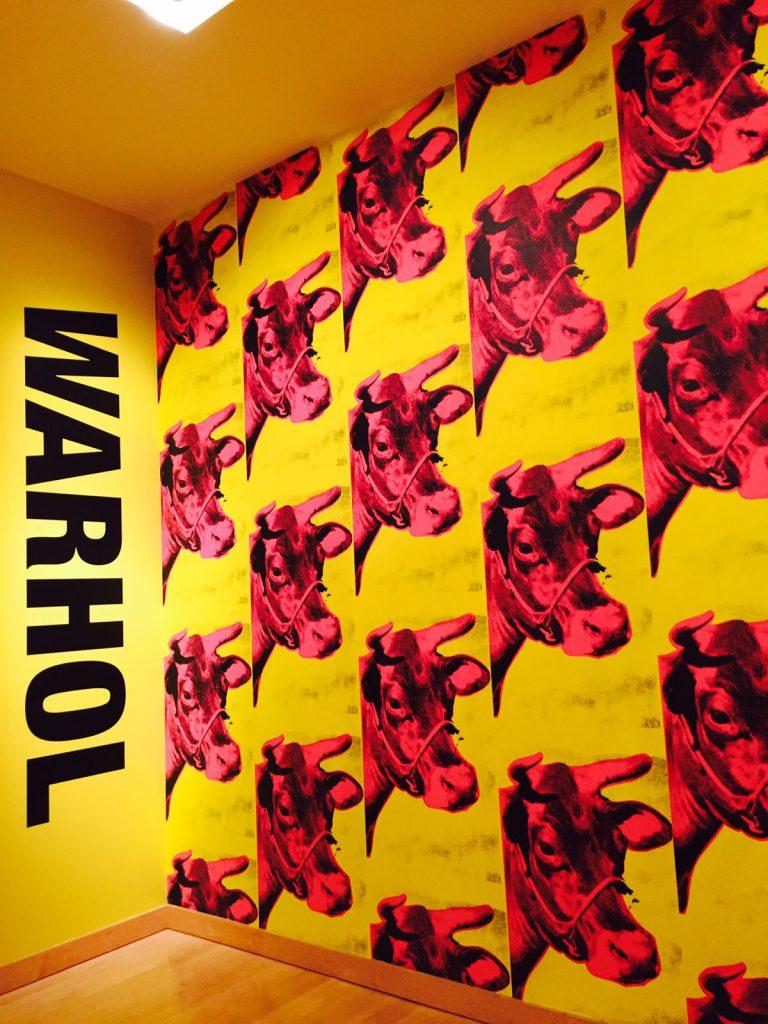 Andy Warhol Pink cows at Boca Museum