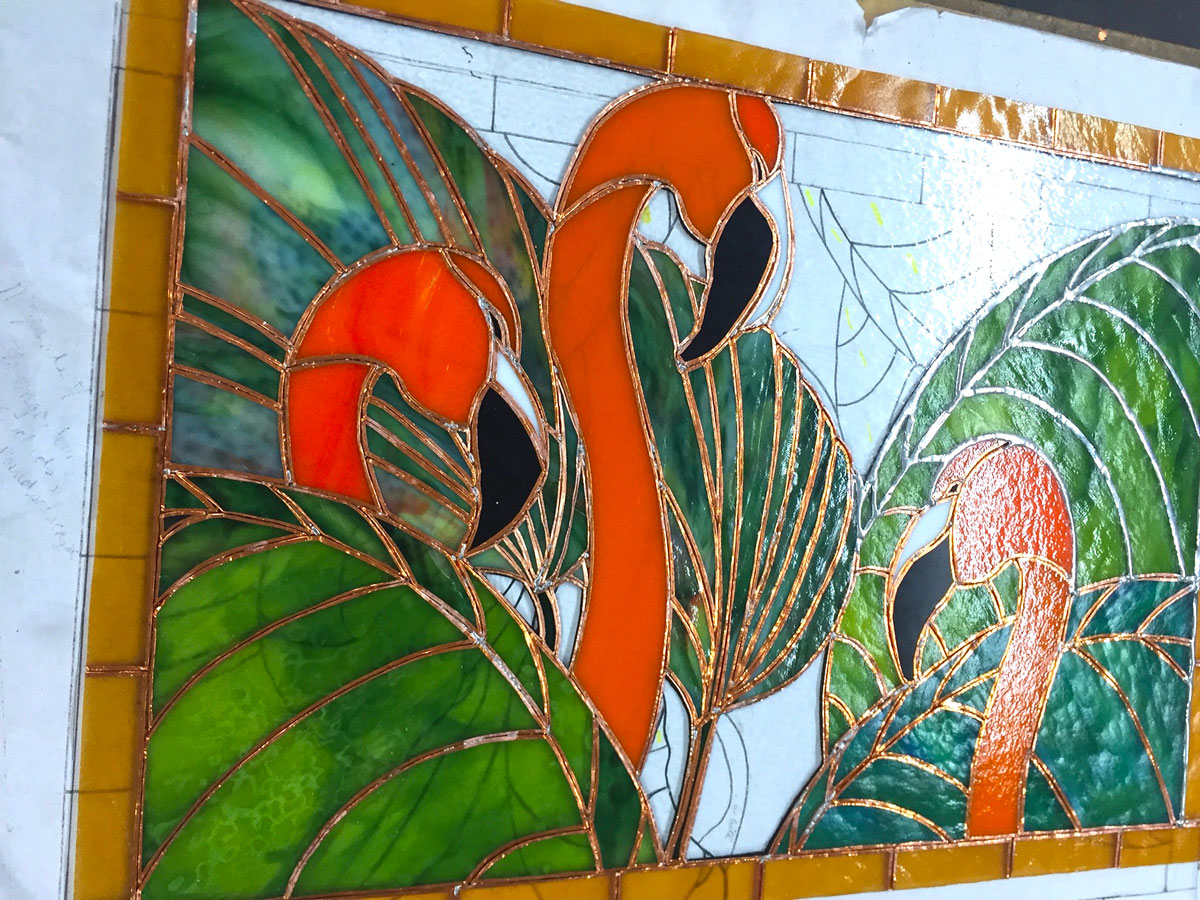 Leaded Copper Sheets : The art of stained glass palm beach style wpb magazine