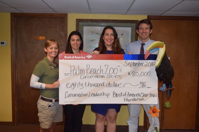 Grant from Bank of America for PBZ's Conservation Leadership Lecture Series