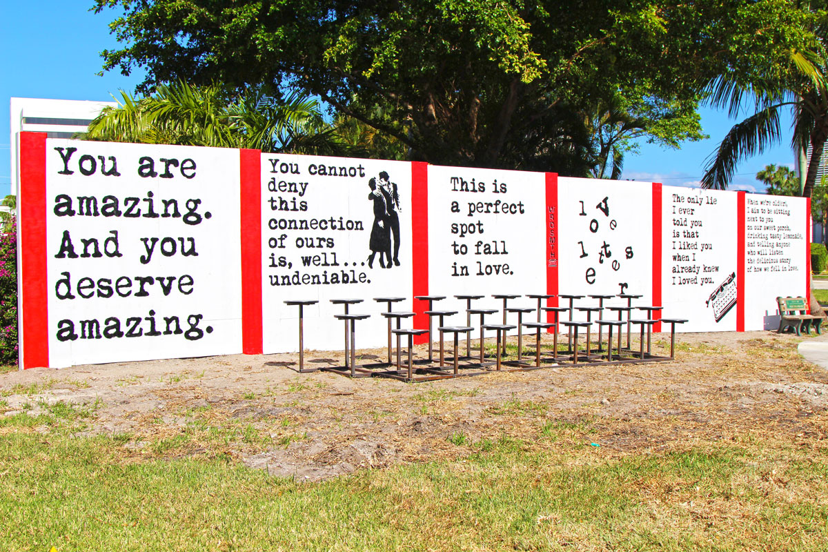 Wrdsmth Has New Major Art In West Palm Beach Canvas 2016 Wiring Diagram 3 Way It Print Lets His Do The Talking