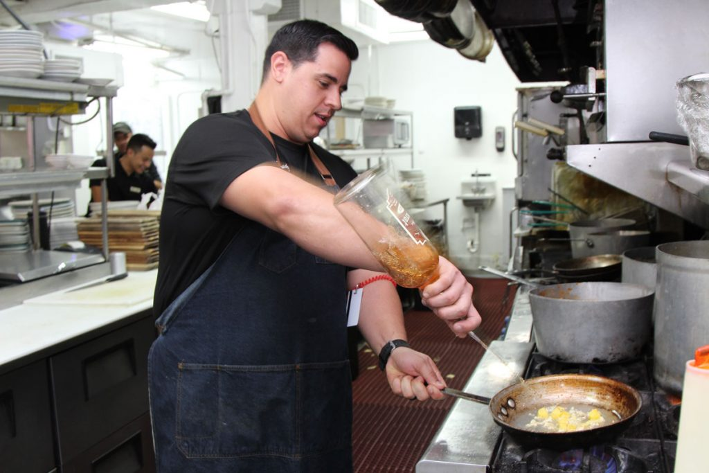 E.R. Bradley's Saloon's Executive Chef Edwin Bermudez