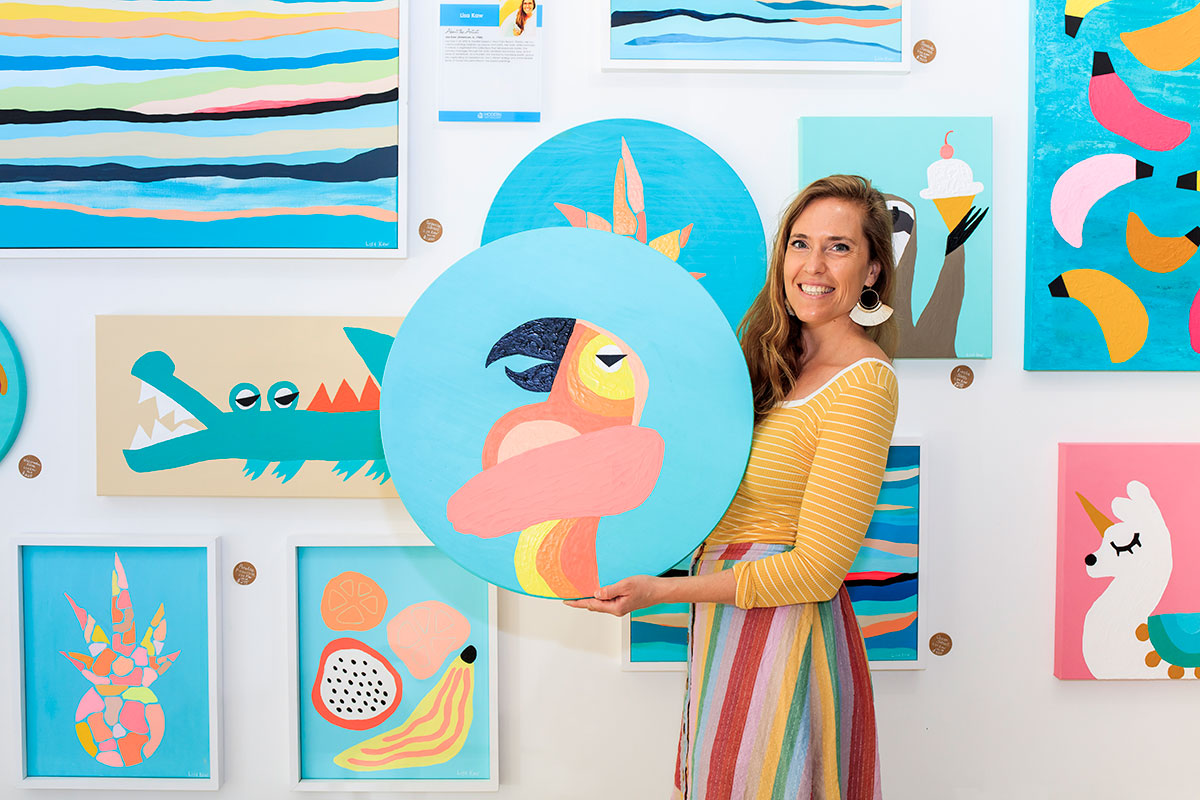Lisa Kaw's Happy Art is Making a Colorful Splash