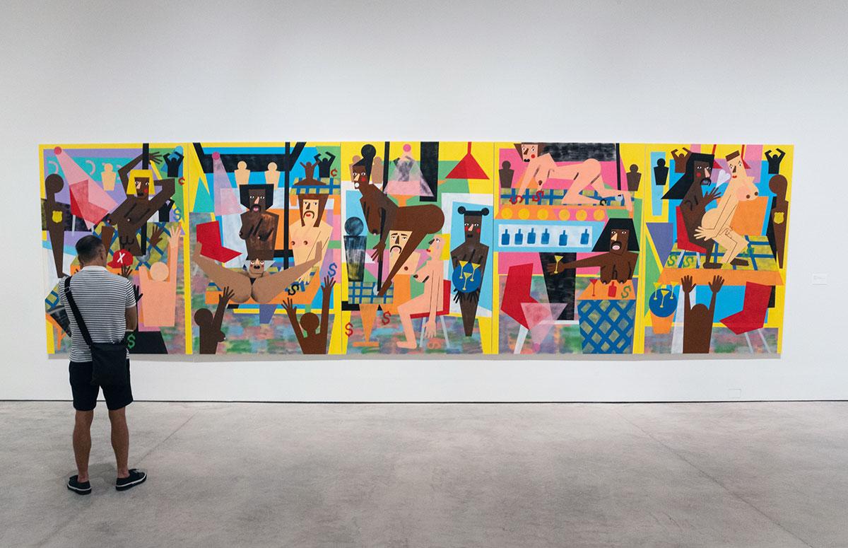 Nina Chanel Abney's Neon exhibit
